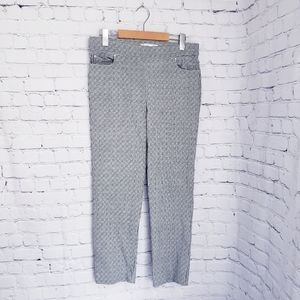 89th & Madison Gingham Check Ankle Cropped Pants